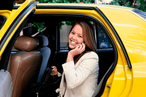 Contract with taxi – order employees, company pays